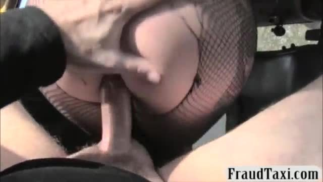 Busty tattooed passenger pounded hard in the backseat