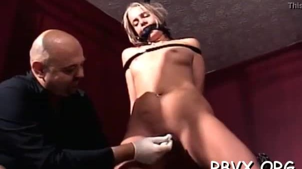 Juicy older babe experiences true hardcore slavery