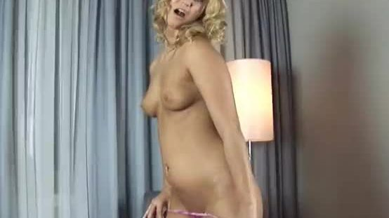 Linda forces a thick brutal dildo in her soaking wet pussy